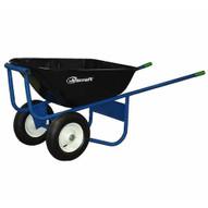 Jescraft SWA-620FF All Welded Wheelbarrow - Dual Wheel with 16 Flat Free Tires-1