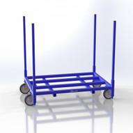 Jescraft SWC-6144 Stackable Warehouse Cart, 4000 LB Capacity - 0