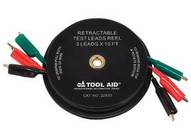 Tool Aid 22830 Retractable Test Leads Reel-3leads X 10'-1