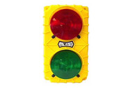 Tri Lite SG20-24RG Yellow 24 Vdc stop & Go W Switch And Flasher Sg20 Incandescent Dock Signal Light Usa Made-1
