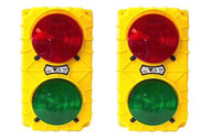 Tri Lite SG30B-24RG-LED Black 24 Vdc stop & Go Sg30 Led Dock Signal Light Set Usa Made-1