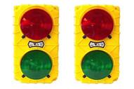 Tri Lite SG30B-24RG Black 24 Vdc stop & Go Sg30 Incandescent Dock Signal Light Set Usa Made-1