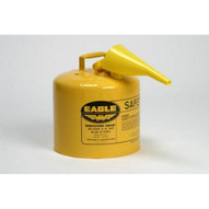 Eagle Manufacturing U2-26-SX5Y 5 Gallon Type Ii Yellow Safety Can W 5 8 O.d. Pour Spout-1
