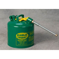 Eagle Manufacturing U2-51-SG 5 Gallon Type Ii Green Safety Can W 7 8 O.d. Pour Spout-1