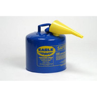 Eagle Manufacturing U2-51-SX5B 5 Gallon Type Ii Blue Safety Can W 5 8 O.d. Pour Spout-1