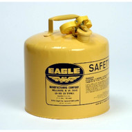 Eagle Manufacturing UI-50-FSY 5 Gallon Type I Yellow Safety Can W F-15 Funnel-1