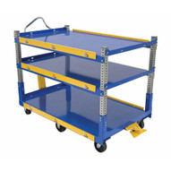 Vestil AEC-3660-3-GFN Adjustable Ergo Cart 36 X 60 Gfn-2