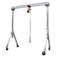 Vestil AHA-15-15-8-PNU Aluminum Gantry Crane W pneumatic Caster-4
