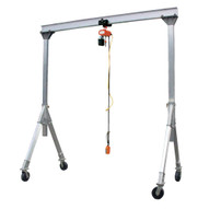 Vestil AHA-4-10-8 Adjustable Height Aluminum Gantry Crane-1