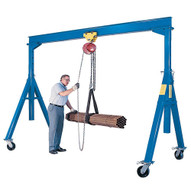 Vestil AHS-6-20-16 Steel Gantry Crane - Adjustable Height-1