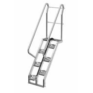 Vestil ATS-4-56-HDG Galvanized Alternate Tread Stair 56 Deg Step 4 Ft-1