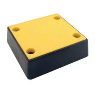 Vestil B-1213-4PF Plastic Face Molded Rubber Bumper-1