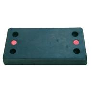 Vestil B-1224-6 Molded Rubber Bumper - Rectangular-1