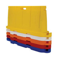 Vestil BCD-7636-YL Stackable Poly Barricade Yellow-2