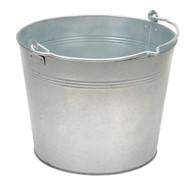 Vestil BKT-GAL-325 Galvanized Steel Bucket - 3-1 4 Gallons-3