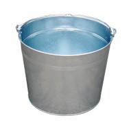 Vestil BKT-GAL-500 Galvanized Steel Bucket - 5 Gallons-2