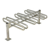 Vestil BR-M3D-GAL Bicycle Rack - Galvanized-1