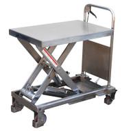 Vestil CART-1750-PSS Partially Stainless Steel Elevating Cart-1