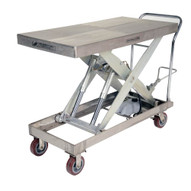 Vestil CART-2000-PSS Partially Stainless Steel Elevating Cart-1
