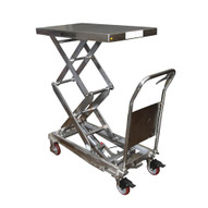 Vestil CART-800-D-PSS Partially Stainless Steel Elevating Cart-1