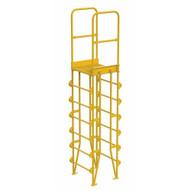 Vestil COLV-7-82-8 Cross-over Ladder Vertical 7step 8-1
