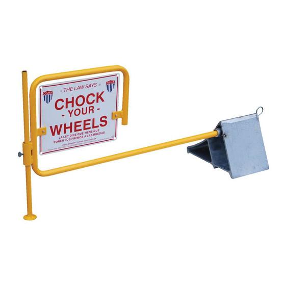 Vestil CWS-13 Aluminum Wheel Chock With Flag-1