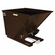 Vestil D-100-HD-BRN-EB Self-dump Hopper Hd 1 Cu Yard 6k Earth Brown-1