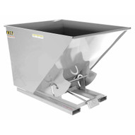 Vestil D-200-HD-SL Self-dump Hopper Hd 2 Cu Yard 6k Silver Lining-1