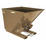 Vestil D-200-LD-BRN-KT Self-dump Hopper Ld 2 Cu Yard 2k Khaki Tan-1