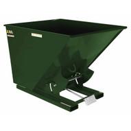 Vestil D-200-LD-GRN-H Self-dump Hopper Ld 2 Cu Yard 2k Hunter Green-1