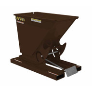 Vestil D-25-HD-BRN-EB Self-dump Hopper Hd .25 Cu Yard 6k Earth Brown-1