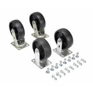Vestil D-CK4-GFN6-2 6 X 2 Glass Filled Nylon Caster Kit 4800# Cap-1