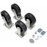 Vestil D-CK4-MR6-2 6 X 2 Mold-on-rubber Caster Kit 2400# Cap-1