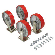 Vestil D-CK4-PU8-2 8 X 2 Poly-on-steel Caster Kit 5000# Cap-1