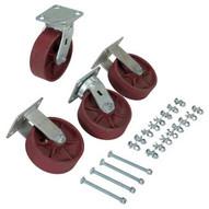 Vestil D-CK4-SC6-2HD 6 X 2 Ductile Steel Caster Kit 8000# Cap-2