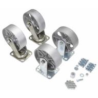 Vestil D-CK4-SC6-2 6 X 2 Semi-steel Caster Kit 4800# Cap-1