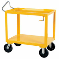 Vestil DH-PH4-3060-D Ergo Handle Cart Wdrain 30 X 60 Yellow-1