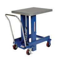 Vestil DIE-2430-36-C Ergo Manual Chrome Platform Table 37 In-4