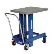 Vestil DIE-2430-60-C Ergo Manual Chrome Platform Table 62 In-3