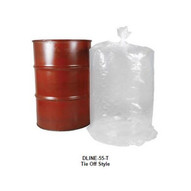 Vestil DLINE-55-4-T Tie Off Round Bottom Liner 55 Gal 4 Mm-1