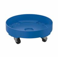 Vestil DRUM-DP-LD-30-BU Drum Dolly Ld Poly Blue 30 Gallon-1
