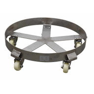 Vestil DRUM-FSD-SS-55-N Stainless Steel Drum Dolly 5 Spoke-3