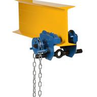 Vestil E-MT-1-C Low Profile Eye Manual Trolley - Geared-1