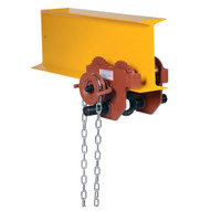 Vestil E-MT-2-C Low Profile Eye Manual Trolley - Geared-1