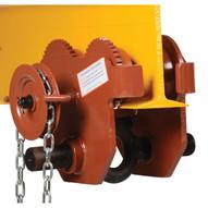 Vestil E-MT-6-C Low Profile Eye Manual Trolley - Geared-1
