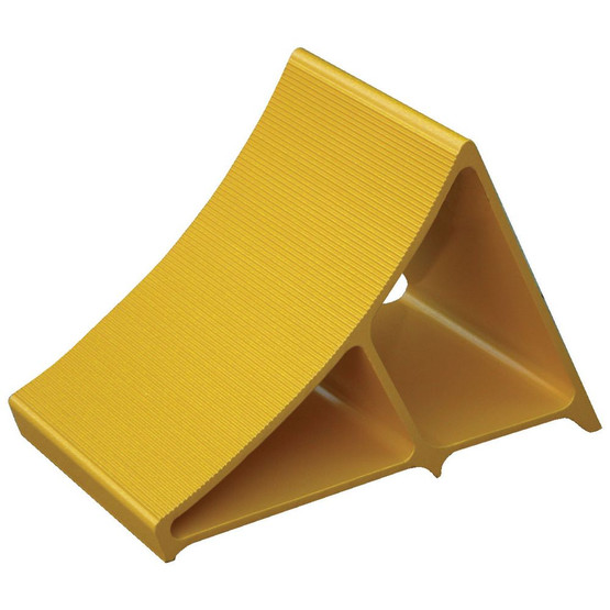 Vestil EALUM-YEL Aluminum Yellow Wheel Chock-1
