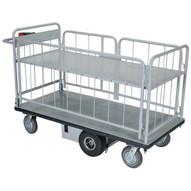 Vestil EMHC-2860-3 Elec Matl Hndl Cart Sides 1-shelf 28 X 60-3