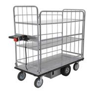 Vestil EMHC-2860-4 Elec Matl Hndl Cart Sides 2-shelv 28 X 60-2