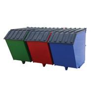 Vestil ENVIR-BIN Triple Bin Recycling Hopper-1