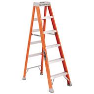 Vestil FBSL-7 Fiberglass Step Ladder-1